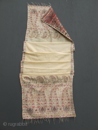 Antique 1800-1810 French paisley shawl or scarf similar to the one worn by Mme Riviere in 1806 painting by Ingres -- now in the Louvre.