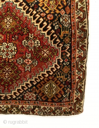 "Qashqai Bagface.  4th Quarter 19th Century.  Excellent condition considering age.  9 colors.  2'0"" x 2'2"".  Delicately hand washed."