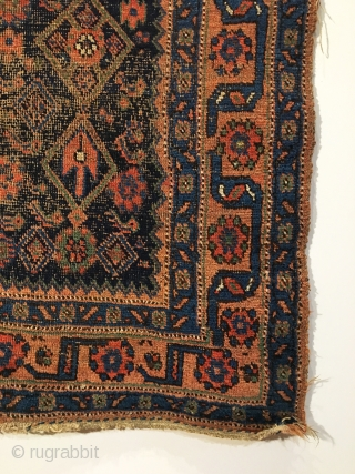 Bidjar Rug.  Late 19th Century.  Good condition.  7 colors including purple.  72 x 46.  Clean and hand washed.