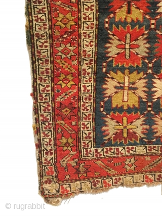 Antique Caucasian Chan-Karabagh Prayer Rug. 2nd Half 19th Century. Inscribed Date: 1263=1846? This piece exhibits distinct rare features. A nontypical border. See Caucasian Prayer Rugs, by Ralph Kaffel, pg. 78  Plate  ...