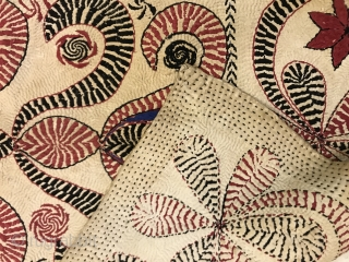 Kantha embroidered cotton, Bangla desh faridpur district, India.