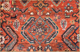 """4445 -  Semi-Antique SW Persian rug  Very good condition Size : 2.05m x 1.55m  9`6"""" x 5`1"""""""