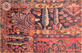 "American Saroq Antique Saruq carpet circa 1900 wool on cotton foundation Very good condition Size : 3.66m x 2.69m  12`0"" x 8`10"""