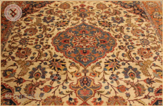 "RGh1000a-  Antique Tabriz carpet circa 1920 wool on cotton foundation good condition Size : 3.60m x 2.69m  11`10"" x 8`10"""