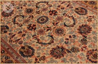 "RGH4-8819- Antique Kashan rug circa 1920 wool on cotton foundation good condition Size : 2.03m x 1.37m  6`8"" x 4`6"""
