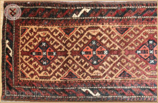 """TR 11811 -  Antique Baluch balshti rug circa 1910 wool and camel hair on wool foundation Very good condition Size : 0.88m x 0.36m  2`11"""" x 1`2"""""""