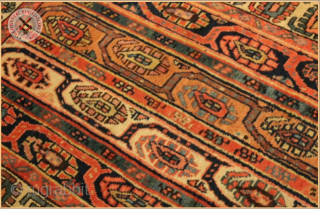 "RG1193-  Antique Shahzavan long rug circa 1890 wool on wool foundation Very good condition Size : 2.55m x 1.00m  8`4"" x 3`3"""