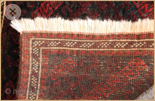 """TR 2253 -  Antique Baluch Mushwani bag face circa 1890 wool on wool foundation Very good condition Size : 0.38m x 0.32m  1`3"""" x 1`1"""""""