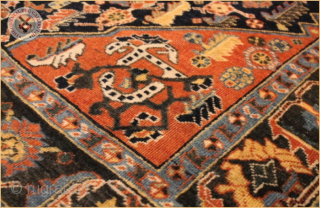 "RG1194- Semi-Antique Kashkuli rug, wool on wool foundation Very good condition Size : 1.73m x 1.30m  5`8"" x 4`3"""