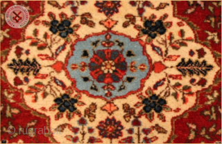"""RG1056a Antique Tabriz carpet circa 1940. signed by thewaever wool on cotton foundation Very good condition Size : 3.55m x 2.82m  11`8"""" x 9`3"""""""