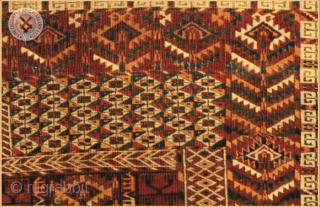 "RG1152 Antique Tekke Ensi rug circa 1880 wool on wool foundation Very good condition Size : 1.51m x 1.28m  4`11"" x 4`2"""