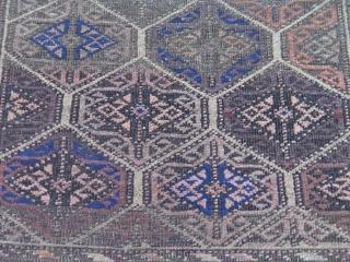 """Antique Baluch rug, 2'10"""" x 5'1"""","""