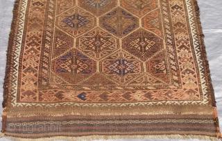 "Antique Balouch rug, 2'10"" x 5'1"" (87 x 155 cm.) good original condition."