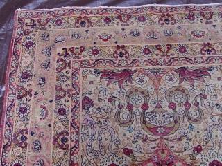 """Antique Kermanshah rug, 8'11"""" x 11'4"""" , third quarter 19th Century."""