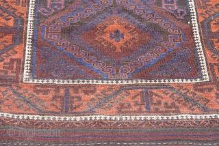"Antique Balouch rug, 3'5"" x 5'10"", (104 x 178 cm.) very good original condition."