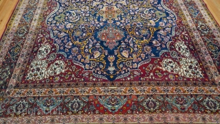 """Antique Persian Kermanshah large oriental rug, ca. 1880's-1900's, 10'4"""" x 15'9"""" (315 x 450 cm.) excellent original condition, amazing colors, hand washed and cleaned professionally just recently."""
