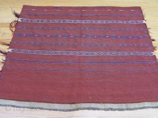 "Antique Turkmen Torba,  2'11"" x 3'5"", Circa 1880's, very tightly woven."