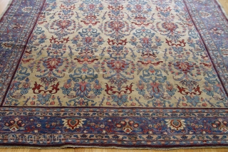 """Antique Persian Farahan rug, circa 1860's, size 7' x 11'7"""" , good original condition."""