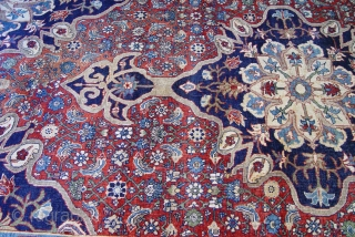 """Antique Persian all wool Bijar halvai, the size is (7'2"""" x 12'5""""ft.)   good condition, has been hand washed and cleaned professionally, both ends and sides are intact, has low pile through  ..."""