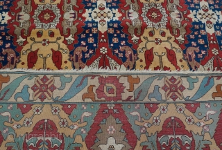 """Antique Dragon Design Romanian Bucharest large rug, 8'8"""" x 12'5"""" (264 x 378 cm.) gorgeous colors, hand washed professionally just recently."""