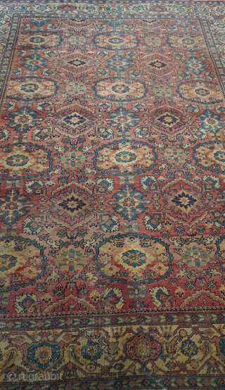 "Antique Persian Sultanabad rug, size is 8'10"" x 11'8"" (269 x 356 cm.), good condition, no repairs, hand washed professionally."