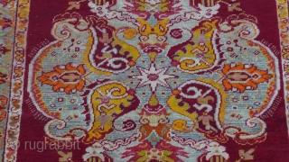 """Antique Oushak Turkish rug , 3'2"""" x 6' (98 x 186 cm.)"""
