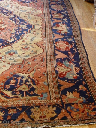 "Antique Persian Farahan Sarouk 8'4"" x 11'4"", great condition, circa 1880's 1900's,"