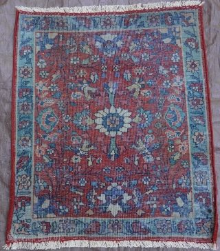 """Antique Persian Farahan very small rug, ca. 1900 , size 1'5"""" x 1'7"""" - 43 x 49 cm."""