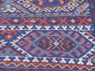 """Antique Kurdish rug, size 4' X 5'8"""""""