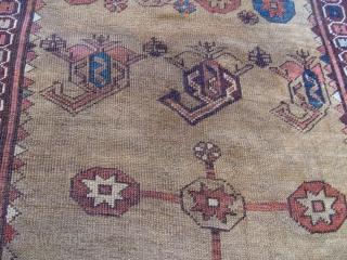 """Kurdish rug 3'7"""" X 4'11"""" third quarter of 19th Century."""