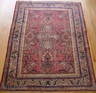 "Antique Persian Lavar Kerman, ca. 1910's, the size is 4'3"" x 6'5""ft. (130 x 196 cm.), wonderful original condition, no repairs, no stains, no wears, has been hand washed professionally."