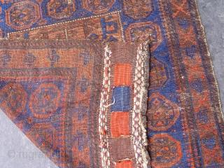 "Antique Baluch bag face , 2'8"" x 2'11"" / 82 x 89 (cm) original good condition."