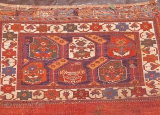 """Antique Afshar Bag-khorjin, 2'7"""" x 3'8"""" / 31 x 44 (cm). A pair is available!"""