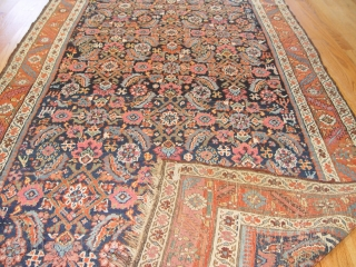 Antique Persian Bijar, 4.1 x 14.4 ft. 100% wool both pile and foundation, mint original condition.