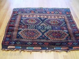 """Antique Jaf Kurd Bag Face, size 3'1"""" x 3'6"""" (94 x 107 cm) 100% wool, thick pile, no repairs, very unique piece."""