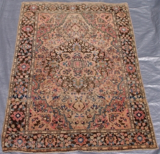 "Antique Persian Farahan Sarouk, c. 1900's, 3'3"" x 5'ft. (99 x 153 cm.) absolutely lovely colors, very good original condition , no repairs."