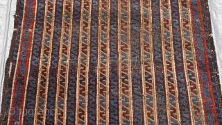 "Antique Baluch rug , 3' x 5'5"" ft. (36"" x 65"" inch)"