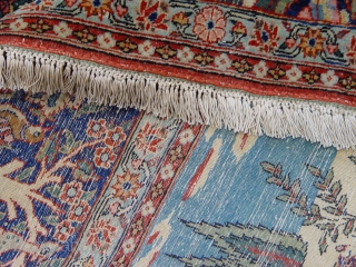 "7'2"" X 10'2"" Sensational Persian Tabriz , very good condition, circa 1900. fringes added on both ends."