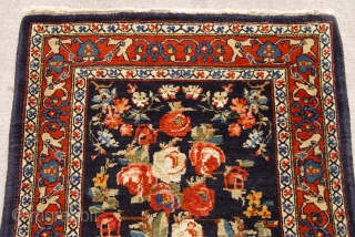 """Antique Persian Mohajiran Sarouk, ca. 1900's, size 2'1"""" x 3' (64 x 92 cm), full pile , hand washed and cleaned, excellent original condition, no repairs, no wears."""