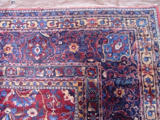 "Antique Persian Yazd very large rug, 10'6"" X 22'1"" , circa 1900-1910's , very good condition."