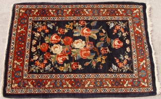 "Antique Persian Mohajeran Sarouk , circa 1900's, size is 64 x 92 cm. / 2'1"" x 3'ft. mint condition."