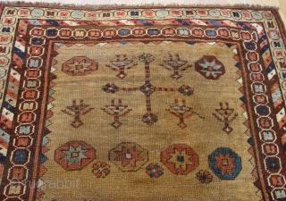 "Antique Kurdish rug, 3'7"" x 4'11""ft. circa 1850's or older."