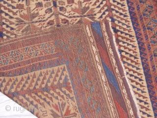 """2'8"""" x 4'3"""" Antique Persian Baluch"""