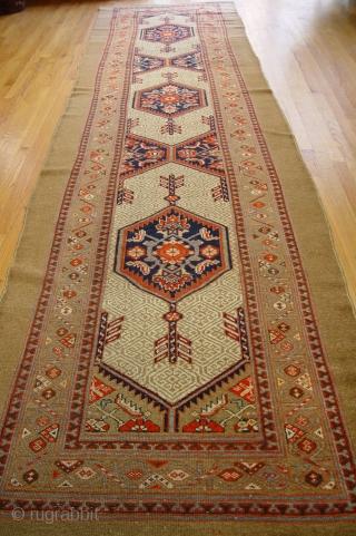 "Persian Sarab camel wool pile runner circa 1880  3'7"" x 14'7"" ft. (99 x 444 cm) wonderful original condition."