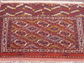 "Antique Yomut Turkmen Torba, size: 2'8"" X 3'7"" , very good original condition."