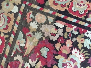 French tapestry, first half of 19th century, Charles x, clean, backed, repaired at four corners