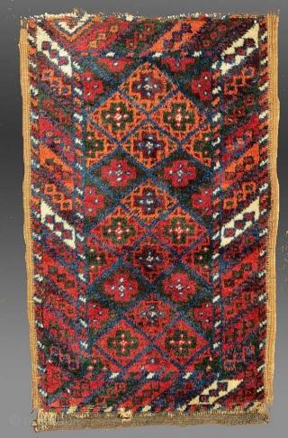"Baluch Balisht, SE Persia, 19th Century, 1'6"" x 2'6""  featured in a recent website update - http://www.tcoletribalrugs.com/zrecentacq.html"