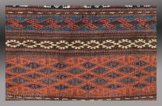 """Baluch """"Khorjin"""" (saddle bag), SW Afghanistan, circa 1900  Good condition, all natural dyes, no repair or re-weaves.  $500"""