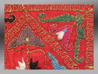 "Uzbek Kungrad(?) Embroidery, Central Asia, circa 1870, 2' 4"" x 2' 4""