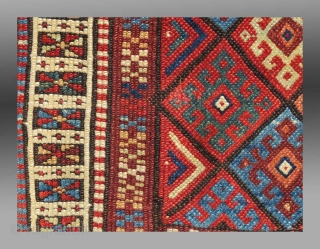"Jaf Kurd Bag Face, W. Persia, 19th C, 1'11"" x 1'6""